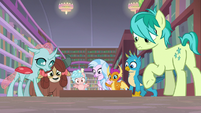 Young Six and Cozy watch the grate close S8E22