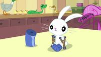 Angel Bunny standing on crutches S7E5