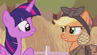 Applejack --bump your head on a crate of cider-- S5E25
