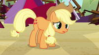 Applejack --can't take it in front of the barn-- S3E8