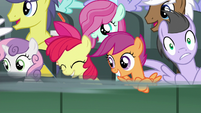 Gabby speeds past the Cutie Mark Crusaders S6E19