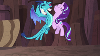 Starlight and Princess Ember chest-bump S7E1