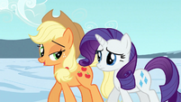 Applejack and Rarity after leaving the Crystal Empire S3E2