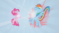 Necklaces forming for Pinkie Pie and Rainbow Dash S01E02