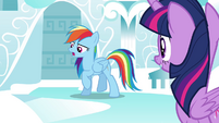 "Rainbow ""Except after Luna was banished to the moon"" S4E21"