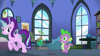 Starlight Glimmer trots away from Spike S6E21