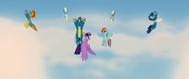 The Wonderbolts disperse the dark clouds MLPTM