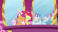 Cutie Mark Crusaders super-excited S5E7