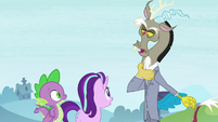 Discord dressed in a suit S8E15