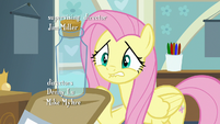 Fluttershy nervously looking at the bottle S7E20