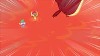 Garble cannonballs toward the lava S9E9