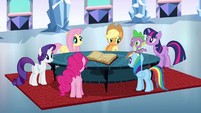 Main 6 singing around a table S3E1