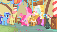 Pinkie Pie Cartwheeling her way out S1E22