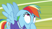 Rainbow Dash pulling on her face S8E17