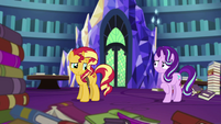 Sunset Shimmer on all four hooves again EGS3