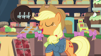 """Applejack """"the family's almost here"""" MLPBGE"""
