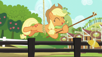 Applejack --one time I left it there by mistake-- S6E10