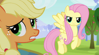Applejack gives up trying to argue S03E10