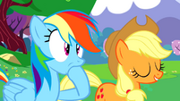 Rainbow hoof in mouth S2E25