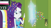 Rarity shields herself from flying confetti EGDS12c