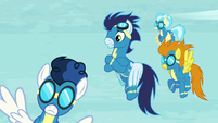 Soarin and other Wonderbolts see Stormy Flare S5E15