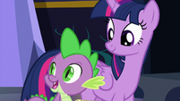 """Spike """"food and presents always cheer me up"""" S7E3"""