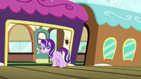 Starlight Glimmer looking on the train S7E24