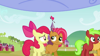 Apple Bloom and Babs Seed looking worried S3E08