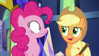 Applejack -Shining Armor and Cadance are held up- S5E19