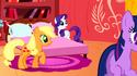 Applejack has Twilight's eyes S01E08