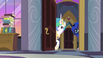Celestia and Luna enter Twilight's room S9E17