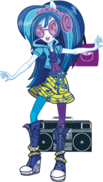 DJ Pon-3 Rainbow Rocks character bio art