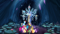 Discord transports Mane 6 and Spike to the Tree of Harmony S4E25
