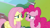 Fluttershy and Pinkie Pie confused S9E15