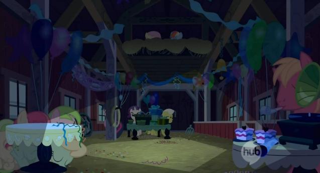Hiding at Applejack's surprise party S2E14.png
