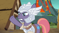 Mighty Helm mare guiding villagers to safety S7E16