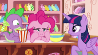 Pinkie Pie --Rarity was a real wet blanket-- S6E22