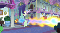Smolder sneezing fire in the hallways S8E15