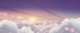 Sunrise above the clouds MLPTM