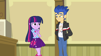 Twilight and Flash awkward around each other EG