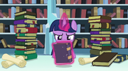Twilight levitates Bridle Buck's Boat Chants S6E2.png