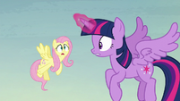 """Fluttershy """"where the flying pumpkins are coming from"""" S5E23"""