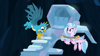 Gallus and Silverstream build roof staircase S9E3