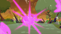 Mane Six teleport away from the Everfree S9E2