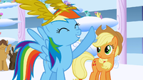 "Rainbow Dash says ""Best day ever!"" again S1E16"