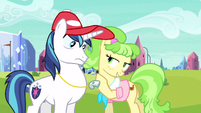 Shining Armor close to the chest S3E12