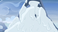 Snow falling from the northern mountain S7E11