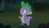 Spike walks back from the bush S3E9