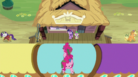 Applejack, Rarity, and Pinkie go their separate ways S6E22