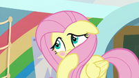 Fluttershy covering her blush S9E7